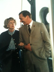 Bette Davis and me on the set of THE WHALES OF AUGUST.