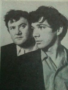 Toibin and Grimes in the Broadway production of Borstal Boy, Lyric Theatre, NY. 1970